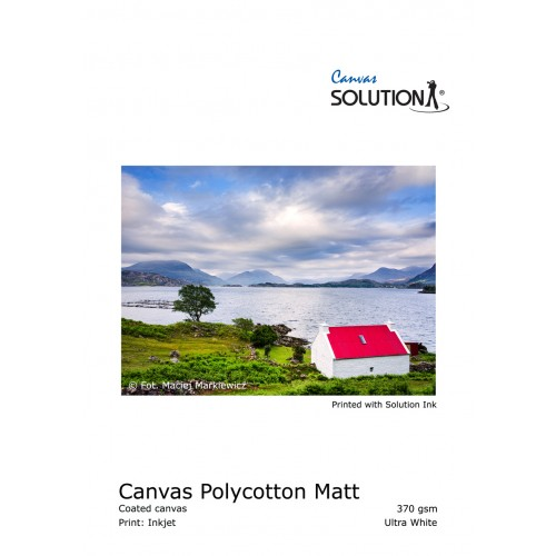 "Solution Polycotton Canvas Matt Ultra White 111.8 cm X 18 M (44"")"