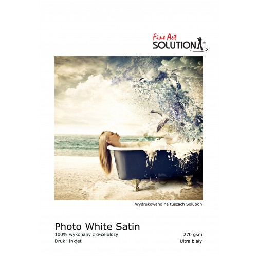 PHOTO WHITE SATIN 270 GSM PHOTO PAPER (A4 25 SHEETS)